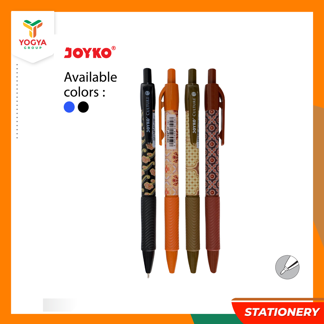 JOYKO BALLPOINT BP 184 CULTURE SET 3 MIX