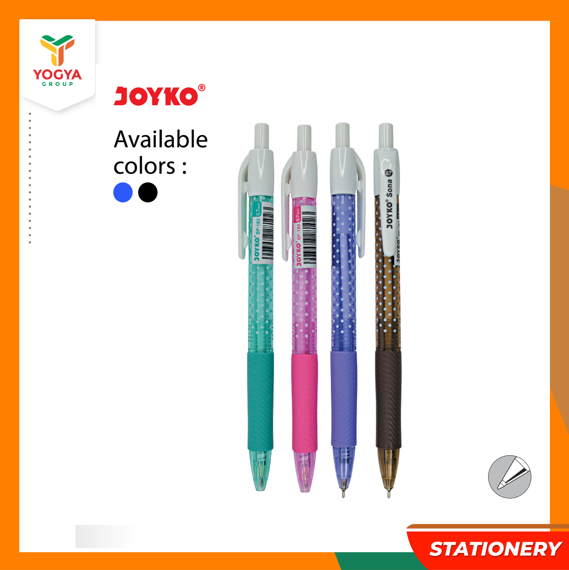 JOYKO BALLPOINT BP 183 SONA SET 3 MIX