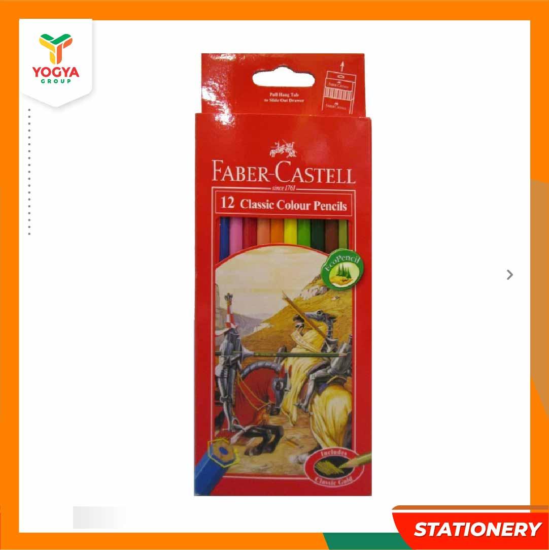 F CASTELL CLASSIC COLOUR PENCILS 12LONG